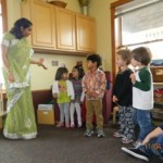 Acting out the story of Diwali