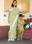 Prashant and his mother showing us their traditional clothing