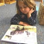 Stella reads